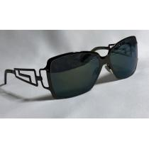 コピー Versace コピー スーパー コピーヴェルサーチ スーパー コピー  グレカGエンブレム メタルサングラス黒×青系ミラー 眼鏡-1