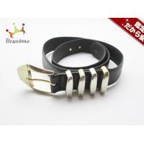 ジャンニヴェルサーチ スーパーコピー スーパーコピー ベルト不鮮明 黒×ゴールド レザー×金属素材-1
