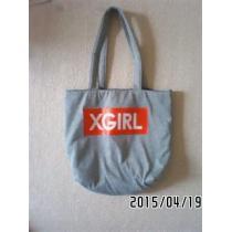 非売品付録・X-girl コピーコラボ・ロゴ&アップル柄トートバッグ-1