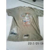 エドハーディー スーパーコピー・ロゴ&タトゥグラフィックダメージTシャツ-1