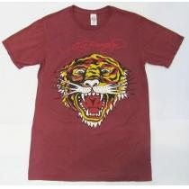 AB87)ED Hardy スーパー コピープリントTシャツM☆US購入-1