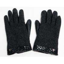 美品カルバン・クライン 手袋 グローブLサイズ黒レディース用-1