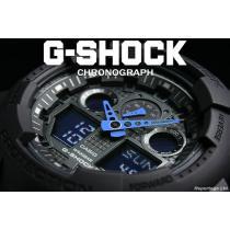 送料込 G-SHOCK CASIO  カシオ スーパー コピー 1/1000秒クロノデジアナBKBL新品-1