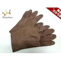 chloe スーパーコピー(クロエ コピー) 手袋21cm レディース ブラウン レザー-1
