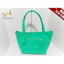シーバイクロエ スーパー コピー トートバッグ ジップファイル グリーン PVC(塩化ビニール)-1