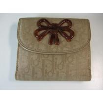 ディオールトロッター二折財布ベージュ-1