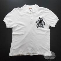 YGG■ジョンガリアーノ×ギャルソン コラボ ポロシャツ 白 S-1