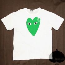 ★コムデギャルソン スーパー コピー★PLAY柄 Tシャツ 白緑 M GARCONS スーパー コピー-1