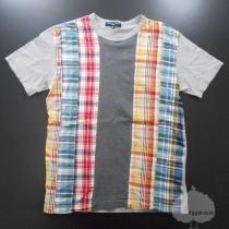 YGG■コムデ・ギャルソン チェック柄 Tシャツ グレー SS-1