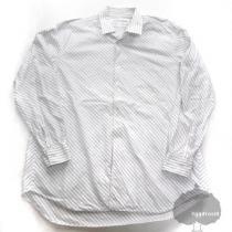 YGG★コムデギャルソン スーパーコピー ストライプ 長袖シャツ 白 S GARCONS  縞-1