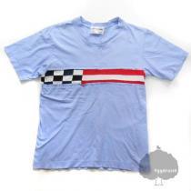 YGG■コムデ・ギャルソン ライン入り Tシャツ 水色 M GARCONS スーパー コピー-1
