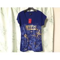 新品未使用ハワイ購入GUESS ゲス スーパーコピー半袖Tシャツ青色ブルーラメ-1