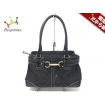 Coach コピー(コーチ スーパーコピー) ハンドバッグ シグネチャーミディアムキャリオール 10507 黒×ダークグレー-1