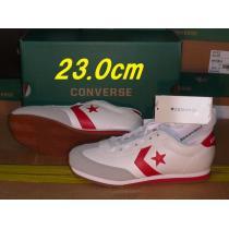 コンバース コピーlt-jg人工皮革 23.0cmホワイト/レッド kマ-1
