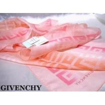 新品タグ付◆ジバンシイ◆ シルク100%ロゴスカーフ 淡いピンク系-1