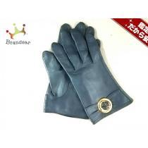 Givenchy スーパー コピー(ジバンシー) 手袋 レディース ダークネイビー レザー-1