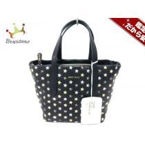 ジミーチュウ スーパー コピー ハンドバッグ美品  ミニサラ J000066567001 黒×シルバー×ゴールド-1