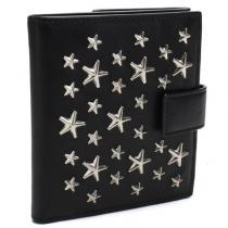 ジミーチュウ コピー Wホック財布 FRIDA CST BLACK-1