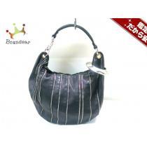 ジミーチュウ スーパーコピー ハンドバッグ スカイバッグ 黒×シルバー レザー×金属素材-1