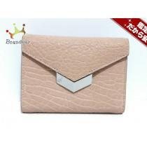 JIMMY Choo コピー(ジミーチュウ スーパー コピー) 3つ折り財布 - ピンク レザー-1