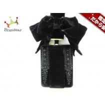 ジバンシー クラッチバッグ - 黒 ビーズ/リボン/ストラップ付属なし ベロア-1