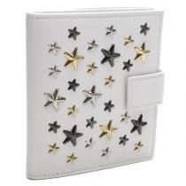 ジミーチュウ スーパーコピー Wホック財布 FRIDA LTR WHITE/METALLIC MIX-1