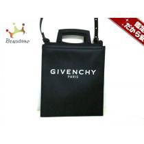 Givenchy スーパーコピー(ジバンシー) トートバッグ美品  - 黒 レザー×ラバー-1