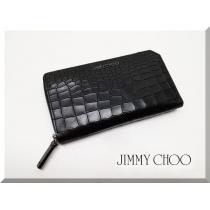 ジミー チュウ クロコ型押し ラウンドファスナー長財布-1