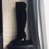 ジミーチュウ コピー 18万 ニーハイ スエード ブーツ ブラック-1