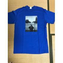新品 SUPREME スーパー コピー x アンダーカバー コラボ フォトTシャツ青L レア-1