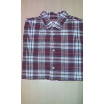 2009s/s summer plaid shirt 半袖シャツ エンジ-1