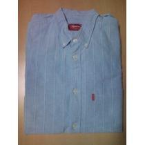 supreme2009s/s stripe oxford shirt オックスフォード ブルー-1