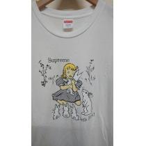 SUPREME スーパーコピー let'sFuck Tee/アリスプリントTシャツ ホワイト白 L-1