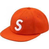 SUPREME スーパー コピー Wool S Logo 6-Panel Cap Orange 17aw キャップ-1