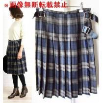 オニールオブダブリン★ウール プリーツ キルト ラップ スカート-1