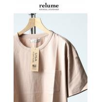 ジャーナルスタンダード スーパーコピーレリューム* relume★U.S.A.天竺Tシャツ(S)/新品ピンク-1