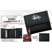 送料無料 STUSSY スーパーコピー ステューシー コピー ロゴ刺繍入りウォレット 財布-1