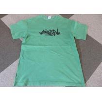 90s USA製 銀タグ STUSSY スーパー コピー Tシャツ M 緑グリーン-1