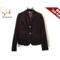 DKNY スーパーコピー(ダナキャラン スーパー コピー) ジャケット4 レディース美品  ボルドー ベロア/肩パッド-1