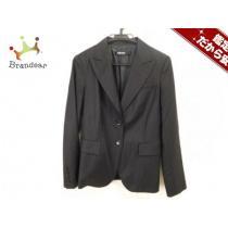 DKNY (ダナキャラン ) ジャケット レディース美品  黒 ストライプ-1