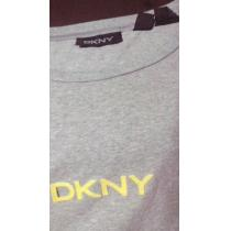 DKNY スーパー コピーダナキャラン スーパーコピー着心地イイ美品グレーTシャツ[L]-1