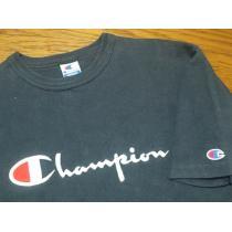 USA製90'sオールド¶Champion コピー[チャンピオン スーパーコピー]★ロゴ刺繍Tシャツ M/送\90~-1