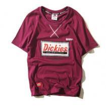 sale Dickies コピー 半袖Tシャツ Lサイズ darkred xディッキーズ スーパーコピー-1