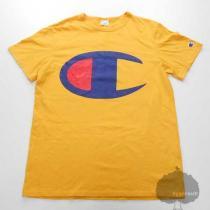 YGG★Champion スーパーコピー チャンピオン スーパーコピー ビッグロゴ Tシャツ 黄 M 半袖-1