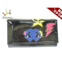 ディースクエアード スーパー コピー ショルダーバッグ 黒×ネイビー×マルチ エナメル(レザー)-1
