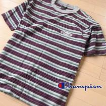 美品 Mサイズ チャンピオン  メンズ 半袖Tシャツ パープル系-1