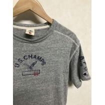 チャンピオン スーパーコピー/Champion コピー 霜降りかすれプリントTシャツ M-1