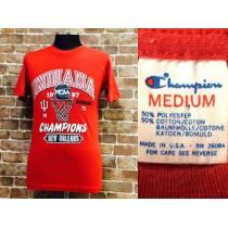 表記M/実寸S!80'sビンテージチャンピオン スーパーコピーカレッジTシャツUSA製古着f&eトリコ-1