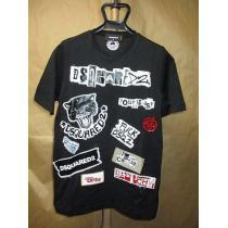 ディースクエアード  19SS ワッペン パッチワーク Tシャツ 黒M-1