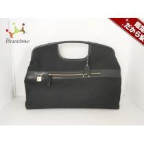 DKNY コピー(ダナキャラン コピー) ハンドバッグ 黒 ナイロン×レザー-1